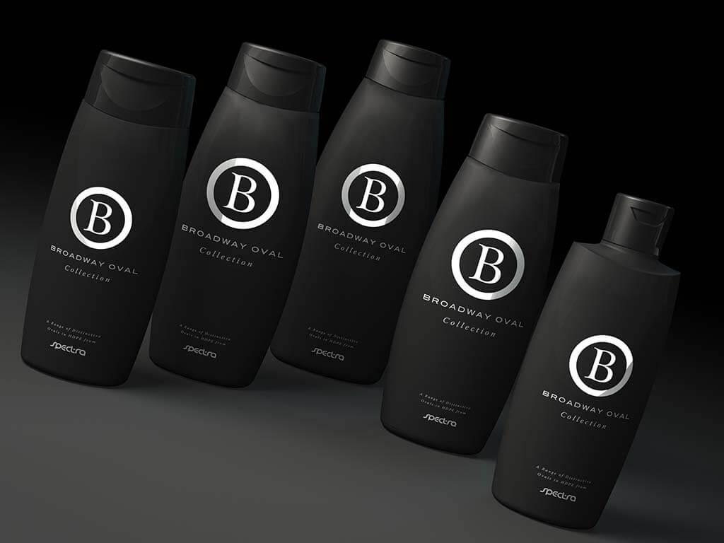 3D product visualisation bottle oval black