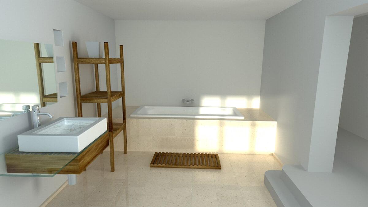 Bath Style 3D Render