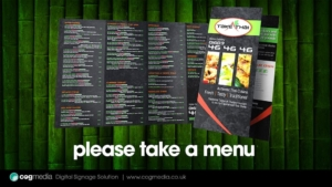 Digital Signage Take Thai Menu