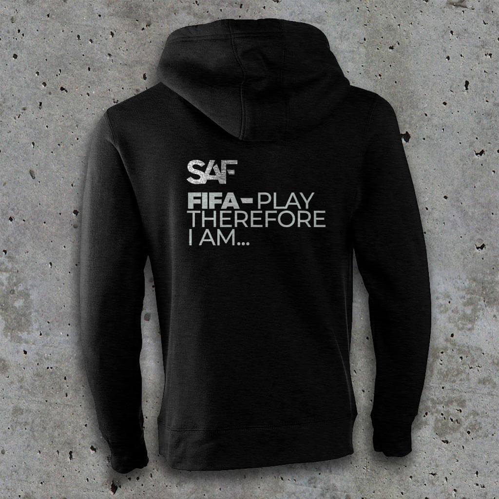 SAF eSports Hoodie BLACK back