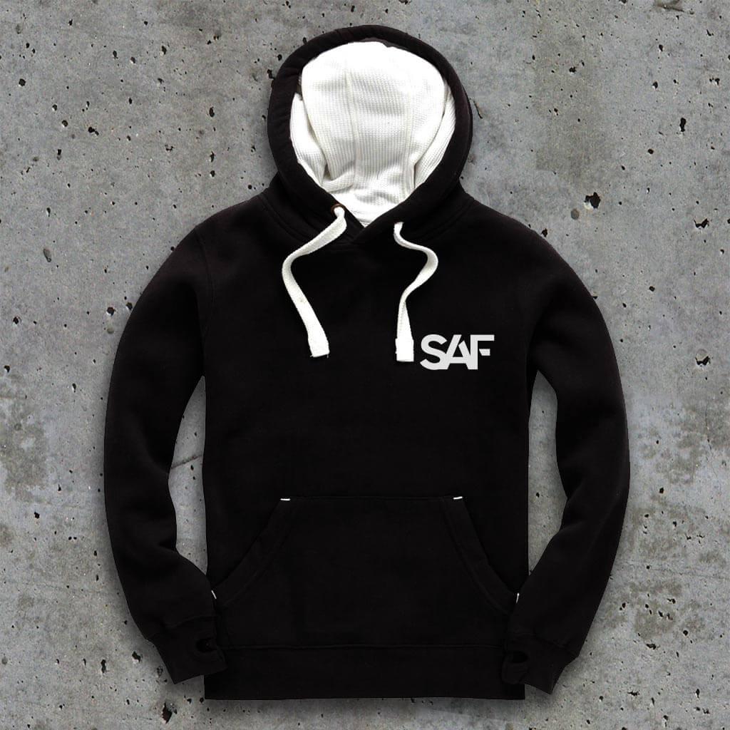 SAF eSports Hoodie BLACK front