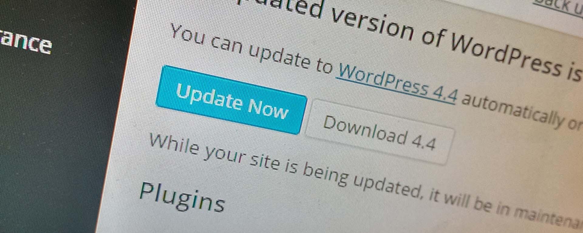 Wordpress Update 4.4
